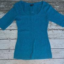 Express Electric Blue Lace Blouse Size Small Photo