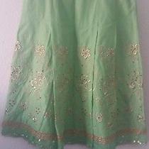 Express Embroidered Print Cotton Skirt Sz 2 - Euc Photo
