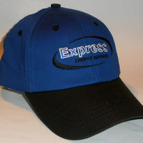 Express Energy Services - Ball Cap - Blue / Velcro Strap Nwot Oil Field Photo