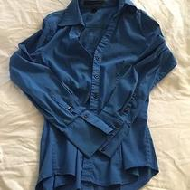 Express Essential Blue Button Down Sz S Photo