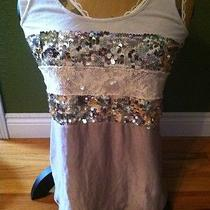 Express Euc T Back Sequined Shirt Small  Photo