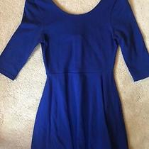 Express Extra Small Blue Skater Dress Worn Once Photo