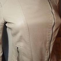 Express Faux Leather Motorcycle Jacket Nude Beige Women's Size Xs Moto Jacket Photo