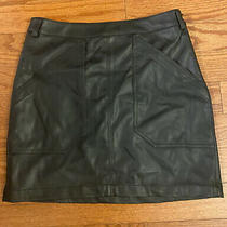 Express Faux Leather Skirt Size 4 Black Photo