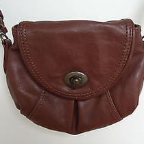 Express Faux Leather Small Brown Shoulder Bag Photo