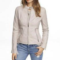 Express Faux Minus Vegan Leather Moto Jacket Coat Xsmall Xs Nwt Pale Pink Nwt Photo