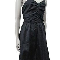Express Fit & Flare Ruched Sweet Heart Black Dress Size 6 Nwt 79.90 Photo