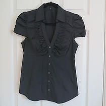 Express Fitted Blouse Small Black Photo
