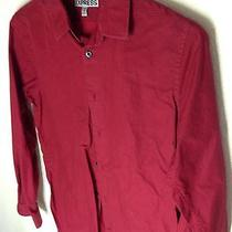 Express Fitted Medium Mens Red Dress Shirt Photo
