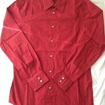 Express Fitted Mens Red Dress Shirt Photo