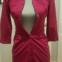 Express- Fitted Shirt Dress - Career - Pink - Size 0  Photo