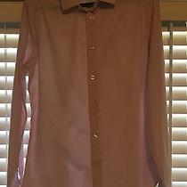 Express Fitted Shirt Small Pink Dots Photo
