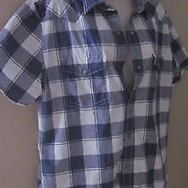 Express Fitted Snap Front Shirt Sz L Plaid Photo