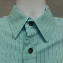 Express Fitted Stretch Cotton Shirt Mens Size Medium M Photo
