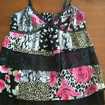 Express Floral Leopard Print Cami Sz 2 Photo