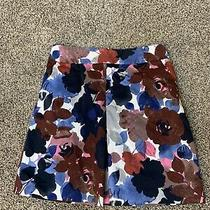 Express Floral Skirt With Pockets Size 8 Blue White Red Burgundy Photo