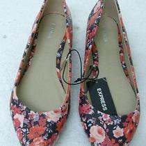Express Flower Print Flats Sz 9 Photo