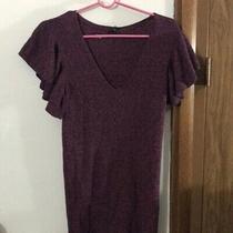 Express Flutter Sleeve v Neck Knit Dress Photo