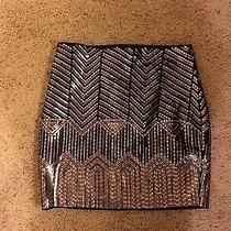 Express for Women Black Sequin Mini Skirt Xs Photo