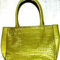 Express Genuine Leather Chartruse Green Handbag Near Mint Condition Photo