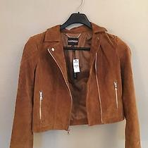 Express Genuine Suede Motorcycle Jacket Sz M Came Photo