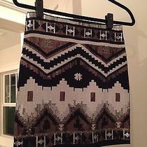 Express Geometric Sequin Skirt Size Small Black White  Photo