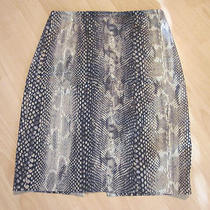 Express Girls Womens Pencil Skirt 0 Brown Tan Snake Snakeskin Animal Print Sexy Photo