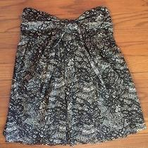 Express Girly Strapless Back and White Lace Print Fun Cute Sexy Top S Photo
