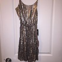 Express Gold Sequin Dress Size Medium Photo