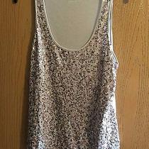 Express Gold Tone Sequin Tank Size M Photo
