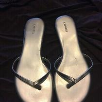Express Gold Womans Size 7 Sandals Pre Owned Photo