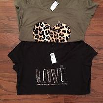 Express Graphic Tshirts L Nwt (2) Photo