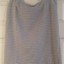 Express Gray and Black Houndstooth Skirt Nwot Photo