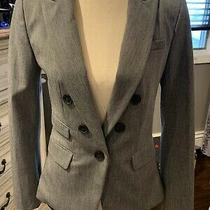 Express Gray Blazer Suit Jacket Size 10 Euc  Photo
