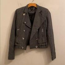 Express Gray Button Front Jacket Size Xs Photo