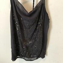 Express Gray Camisole Sequin Tank Top Cami - Large Photo