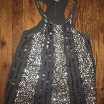 Express Gray Embellished Sequin Racerback Tank Size Xs Photo