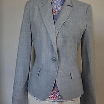 Express Gray Fitted Blazer Jacket 8 Photo