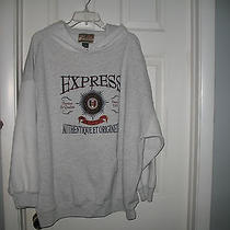 Express Gray Hoodie Size Xl Polyester/cotton Blend Photo