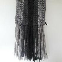 Express Gray Knit Soft Wool Blend Scarf Women Men 89 Inches Photo