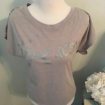 Express Gray Leopard Graphic Tshirt Small Photo