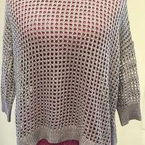 Express Gray Metallic Sweater Size Sp Photo