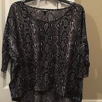 Express Gray Pattern Top  Photo