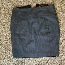 Express Gray Pencil Skirt Size 2 Zipper Back Grey Photo