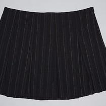 Express Gray Pinstripe Box Pleat Mini Skirt Size 10 Photo