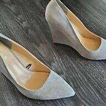 Express Gray Pointed Wedge Heels 7 Photo