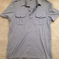 Express Gray Polo Shirt Med Photo