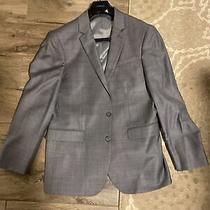 Express Gray Producer Wool Blend Modern Fit Suit Jacket Blazer Size 40 Short Photo