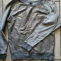 Express Gray Sparkle Sweatshirt Size Small Photo