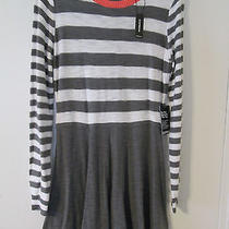 Express Gray/white Long Sleeved Dress Size L Nwt Photo